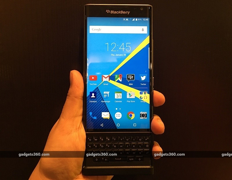 BlackBerry Priv Android Phone Launched in India