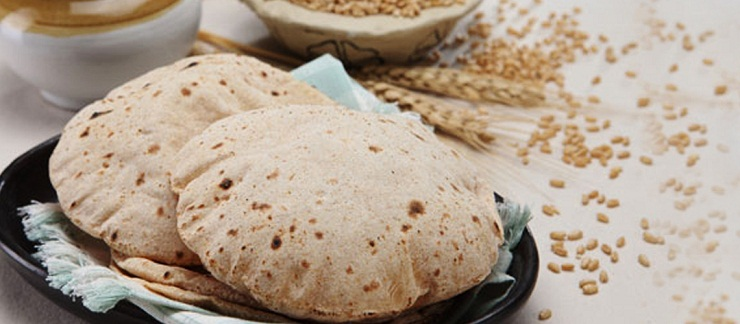 wheat flour chapati