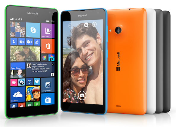 The Lumia 535 is the first Microsoft-branded smartphone