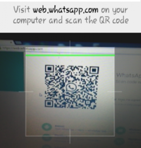 whatsapp web QRcode scanning