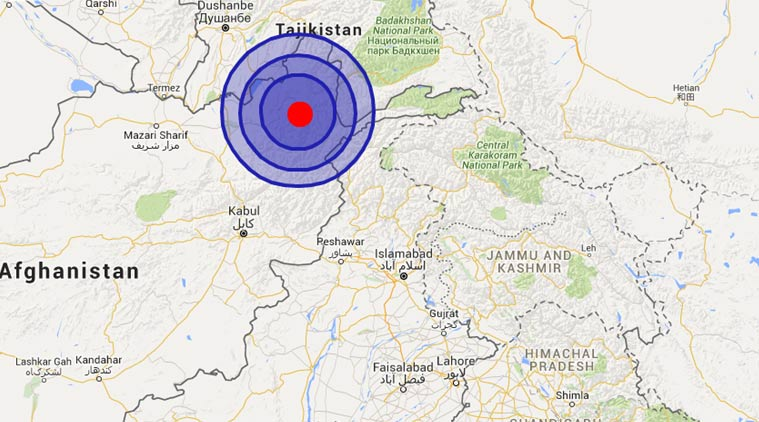 EARTHQUAKE FELT IN AFGHANISTAN, INDIA AND PAKISTAN