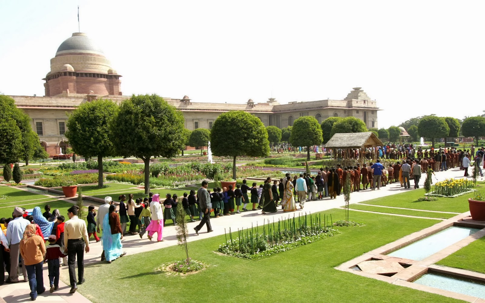 Opening time of the Mugal garden-Rashtrapati Bhavan 2016 for people