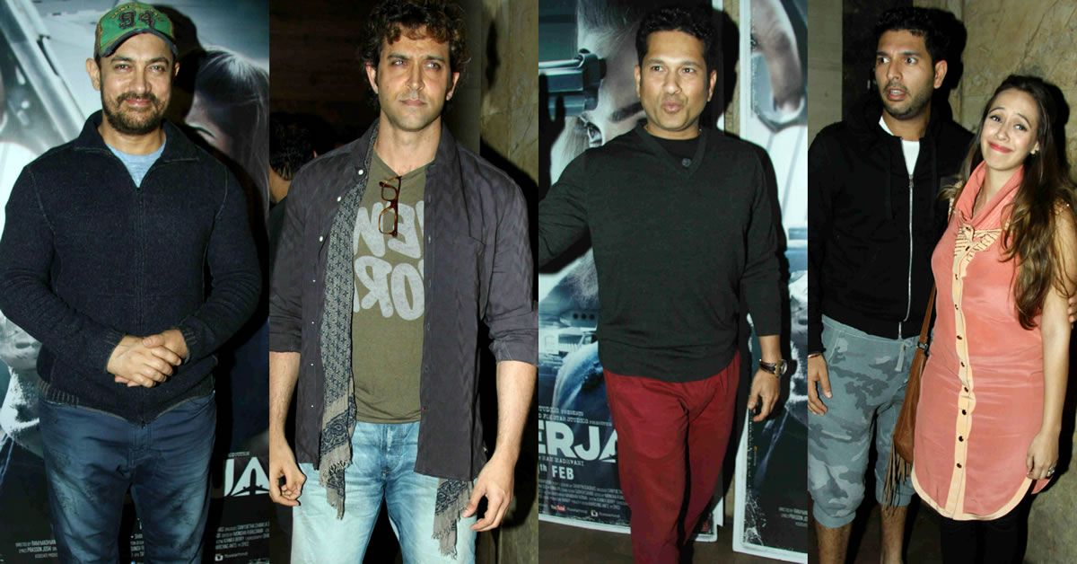 Bollywood Meets Cricket At Neerja Screening: Aamir Khan, Hrithik Roshan, Sachin Tendulkar, Yuvraj Singh And More