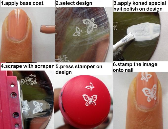konad stamping nail art steps - GyanWaleBabaGyanWaleBaba