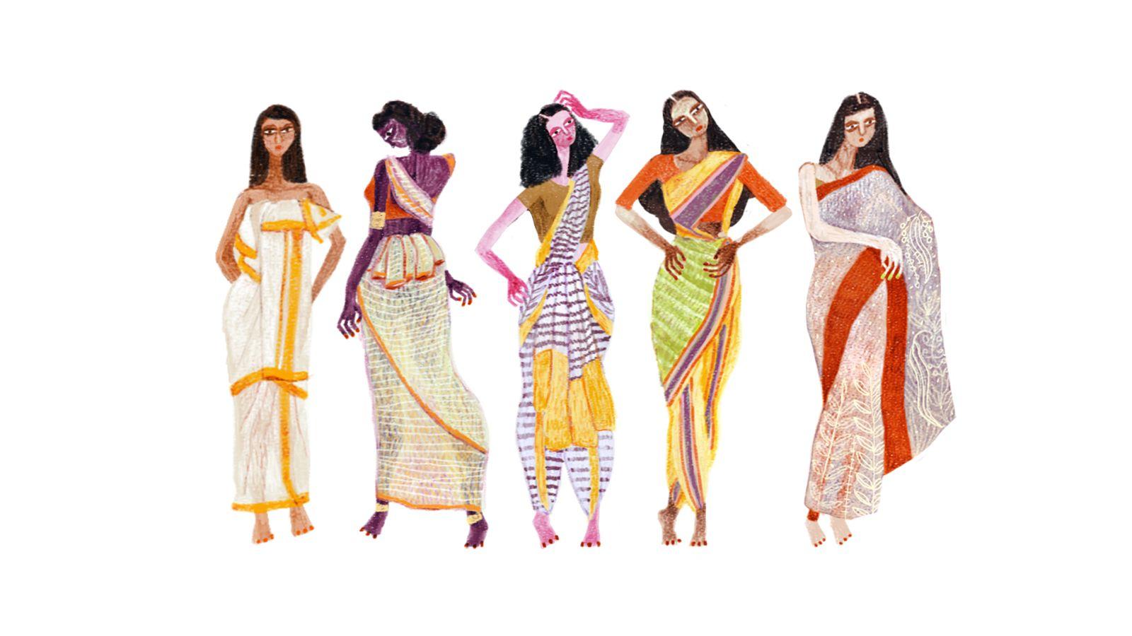 साड़ी का इतिहास,कहाँ से हुई थी इसकी शुरुआत ( History of sari)