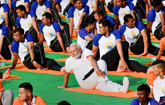 Narendra Modi on International Yoga Day 2018