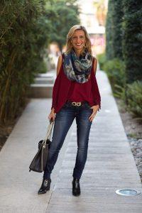 shoulder scarf style