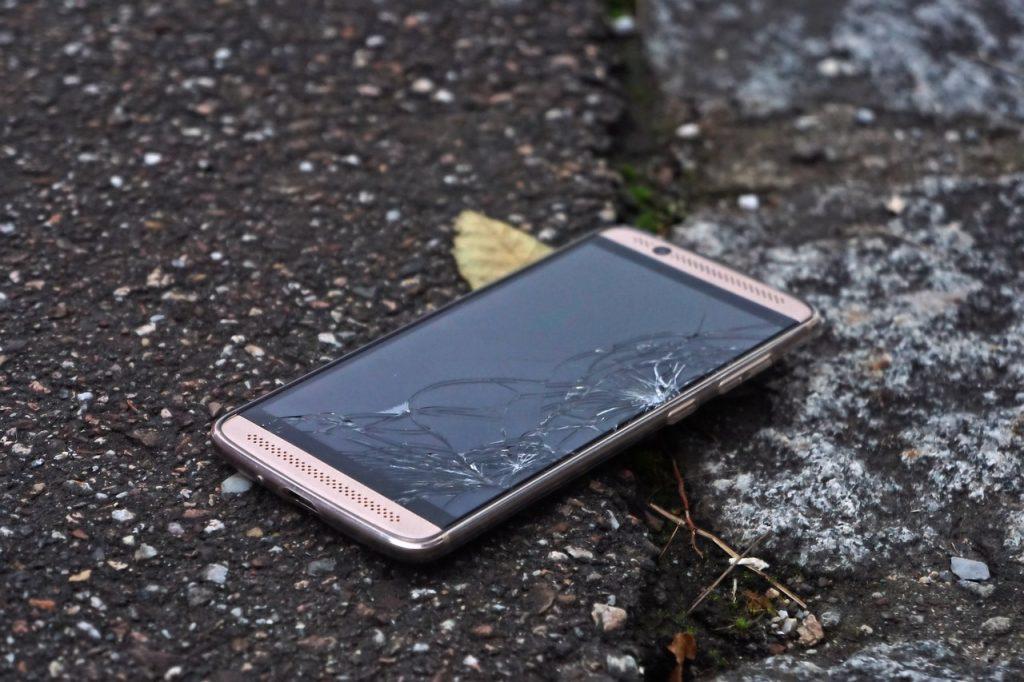 broken glass repair itself