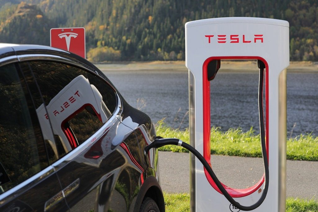 Tesla electronic car